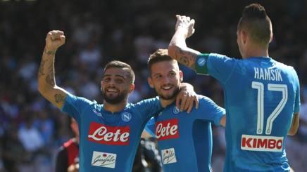 Napoli – Benevento, azzurri buona reazione in una domenica perfetta