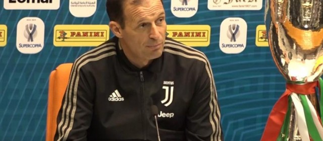 "Juventus-Milan, Allegri: ""Vogliamo vincere tutto!"""