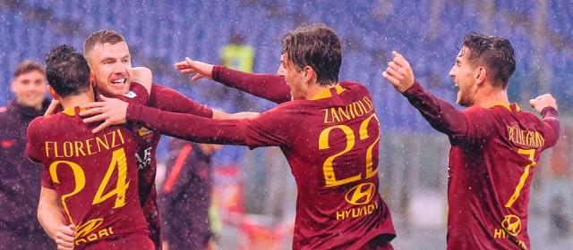 Dzeko goal e la Roma ad un solo punto dalla Champions!