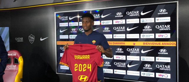 """Diawara: """"Dobbiamo raggiungere la Champions League. Felice di essere a Roma""""."""